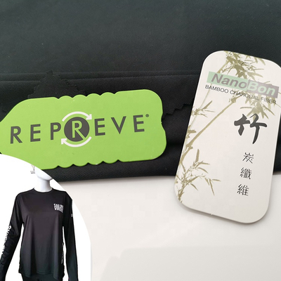 High Quality 50 Recycled Polyester 50 Bamboo Repreve Polyester Bamboo Fabric Fot T-shirt